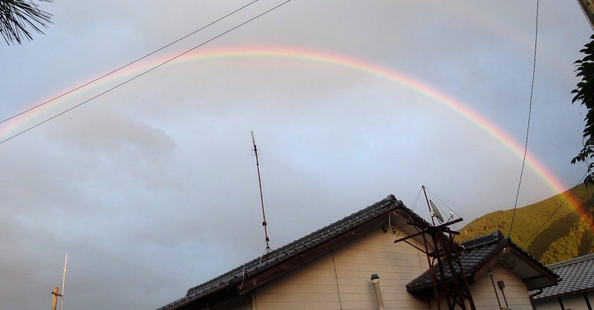 きれいな虹が・・・
