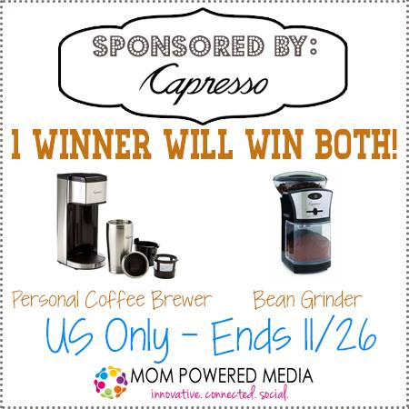 Personal Coffee Maker With Grinder : Capresso Personal Coffee Brewer and Bean Grinder {Review} and #Giveaway ends 11/26 - Merlot Mommy