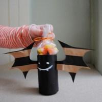 Halloween Flashback: Carboard Tube Bat Treat holders
