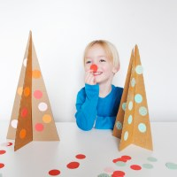 Simple Cardboard Christmas Tree Craft