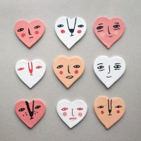 DIY Valentine Heart Magnets