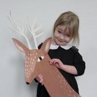 Christmas and a Cardboard Reindeer Head