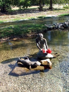Indian Mermaid Sirena in Salado, Texas.