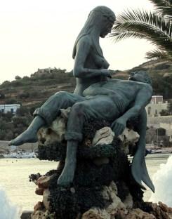Panagia Gorgona mermaid on Syros in Greece