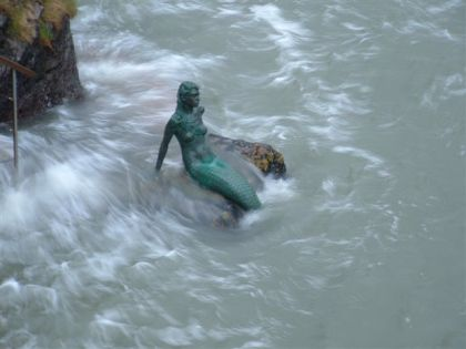 Mermaid statue - Miranda, Mermaid of Dartmouth