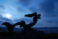 "Mermaid statue ""Sirena Magdalena"" in Santander Spain"