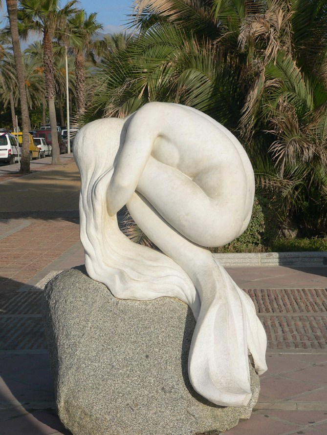Mermaid sculpture in Puerto Banus, Marbella, Spain
