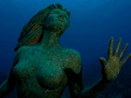 Amphitrite mermaid statue.