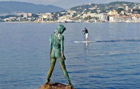 The Atlante 'Amphitrite' Mermaid Statue in Cannes