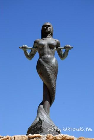 Mermaid Sculpture at Astros Beach