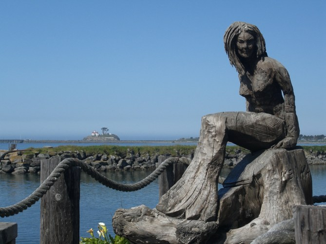 Crescent city s chainsaw carved mermaid statue mermaids