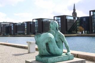 The Smaller Mermaid Statue.