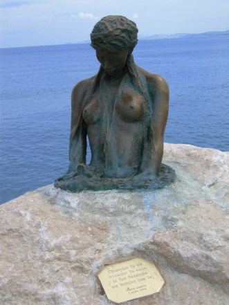 Penelope of Senigallia mermaid statue