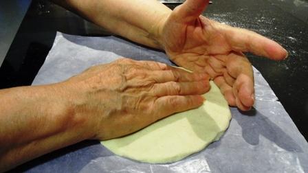 El palmeado. Las manos de mi mamá.