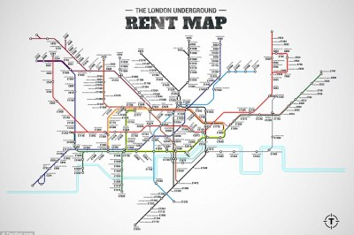 London rental costs per tube stop