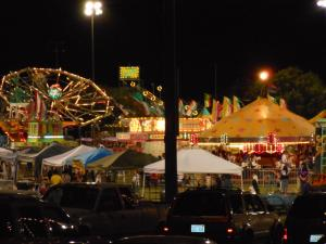 The view of the carnival and midway areas at night can be breathtaking at Mesquite Days. File Photo.