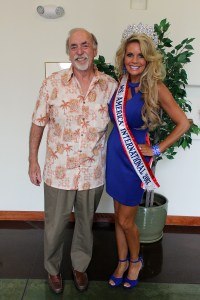 Mesquite Mayor Al Litman congratulates Ms. America International 2017 Tracy Rodgers when she visited his office Wednesday, Sept. 21.