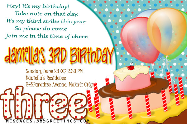 Birthday party messages for invitation invitationswedd day party invite wording daway dabrowa co filmwisefo