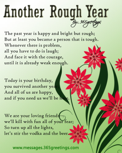 Birthday Poems for Friends Messages, Greetings and Wishes  Messages