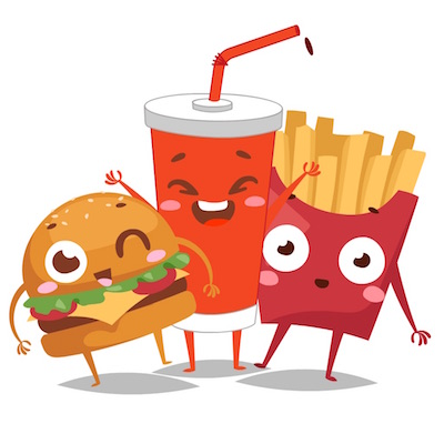 fast food stickers free animated pack
