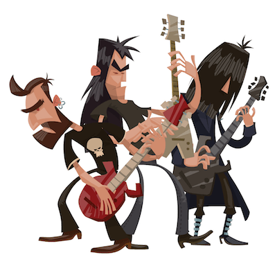 rock music free iOS sticker messages pack