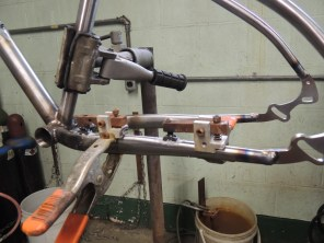 cable guides ready to braze