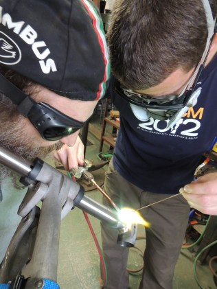 Rob brazing seat tube to BB shell
