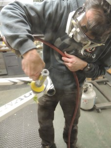 Bob with pneumatic sander