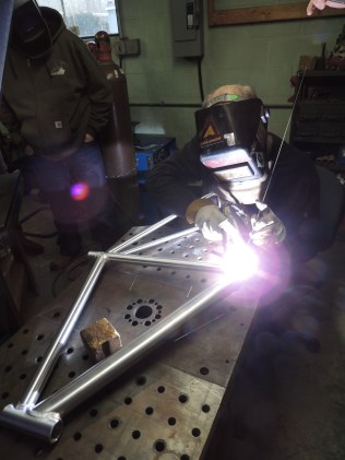 Frank welding rear triangle