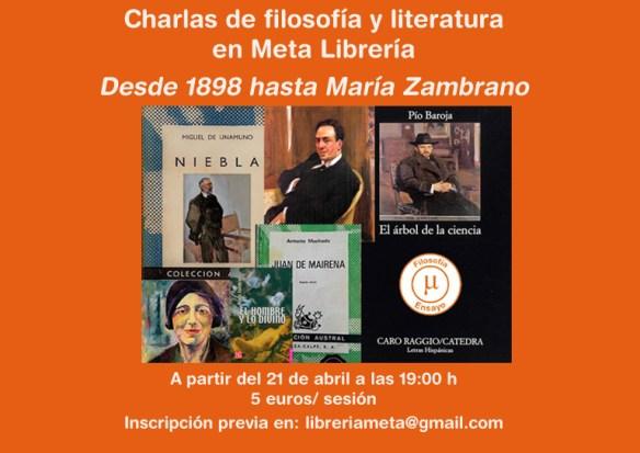 Charlas de filosofía y literatura WEB