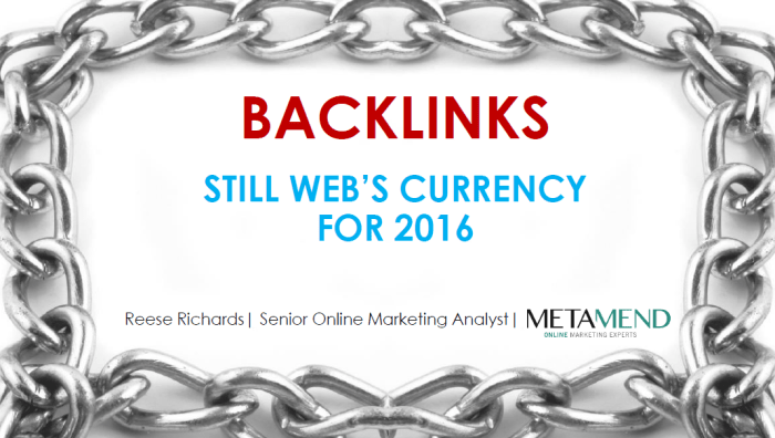 Backlinks - Still Web's Currency for 2016