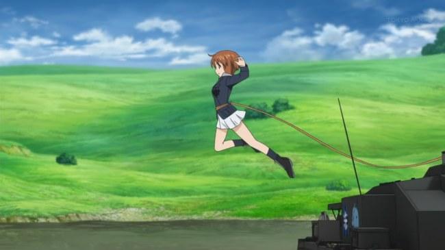 Girls und Panzer 11 Miho Flies (3)