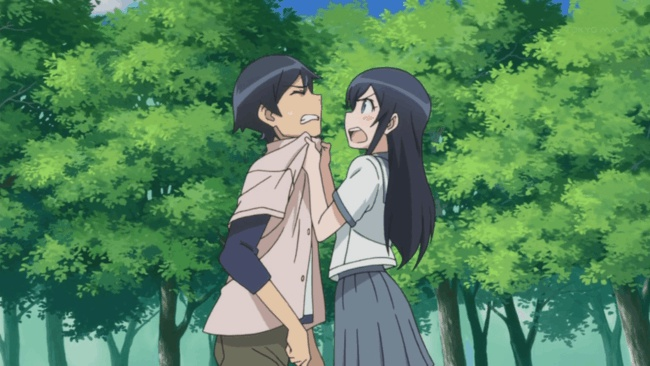 Ayase takes her frustrations out on Kyousuke
