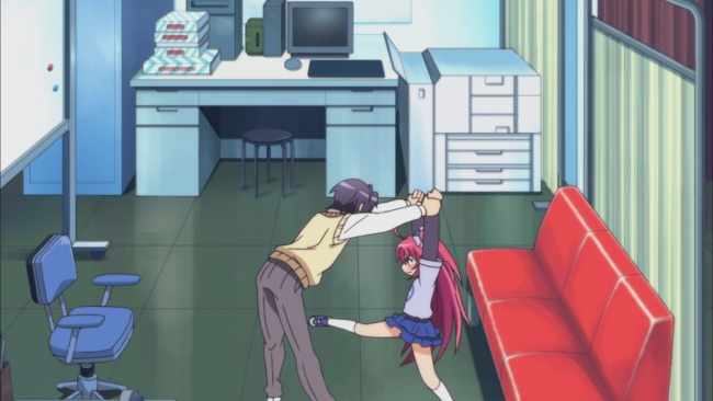 Sensei going for the kill