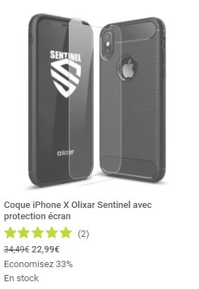 coques et protections Mobile Fun iPhone X screen1 olixar