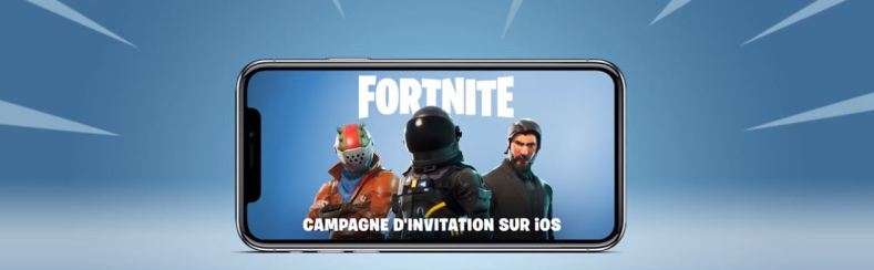 Fortnite Battle Royale sur iOS