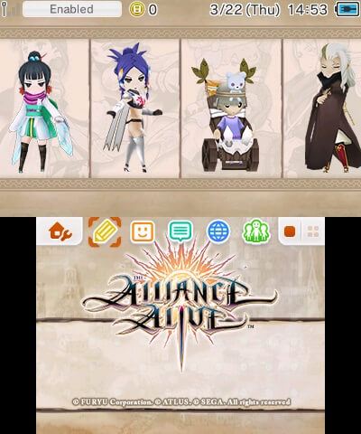 The Alliance Alive nintendo 3ds 2