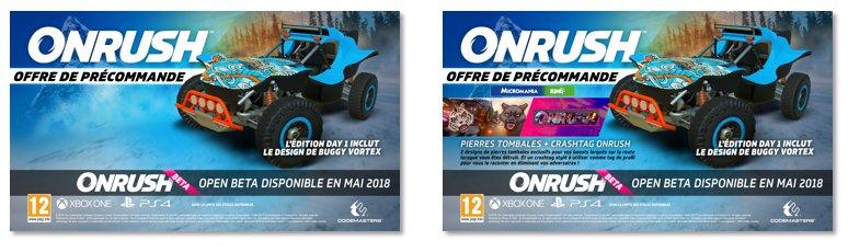 offres précommande ONRUSH PS4 Xbox One 1