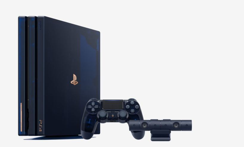 PS4 Pro 500 Million Limited Edition screen unboxing video