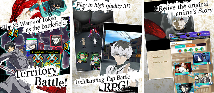 Tokyo Ghoul Re birth app store google play telechargement