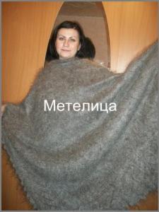 Эксклюзивный оренбургский пуховый платок большого размера