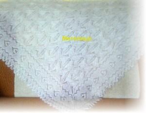 Оренбургская косынка белая ручной работы