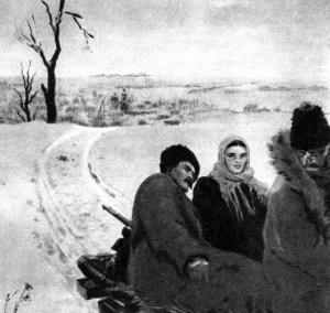 Изображение пухового платка в романе «Тихий Дон».