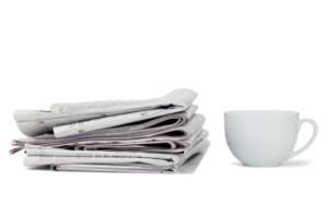 Реклама в газете за чашкой чая