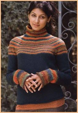 Цветной свитер