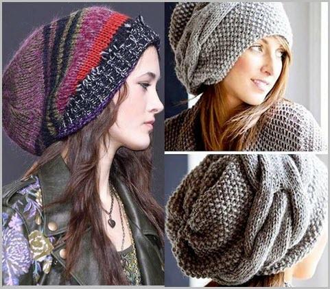 Модные шапки вязаные зима 2017 женские