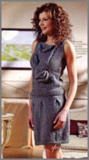 Вязаная юбка и вязаная кофточка