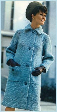 Комфорное вязаное пальто
