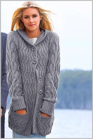 Вязание спицами для женщин. Модные модели по схемам с описанием 25