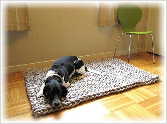Как сделать коврик для собаки своими руками